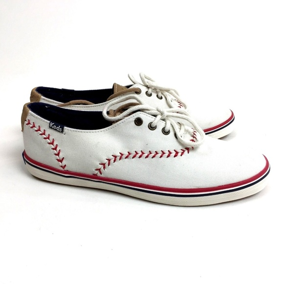 9bcc50bfcf2d Keds white Champion Pennant lace up sneakers